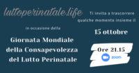 Lutto perinatale. Evento online per la giornata della consapevolezza